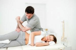 массаж в области сустава