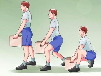 правильное поднятие тяжестей необходимо, чтобы избежать рецидива заболевания