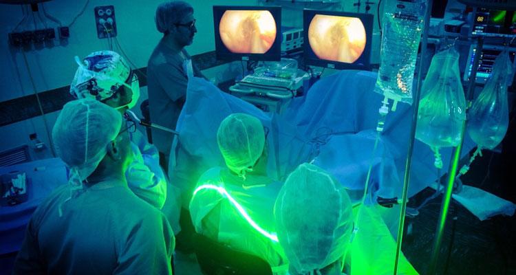 лечение с применением зеленого лазера